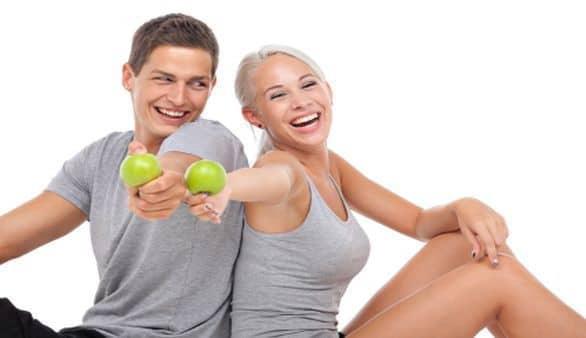 Paar macht Diät