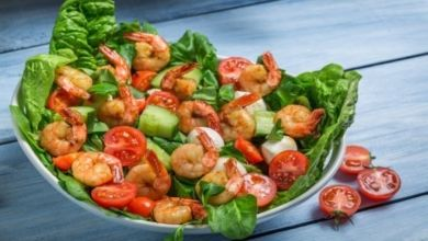 Low Carb Shrimps Salat